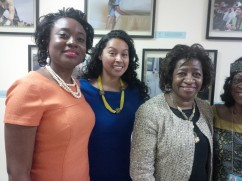 Mary Olushoga, Carolina Velasco, Honorable Jackie Weatherspoon