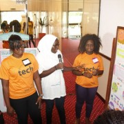 Girls pitch their app