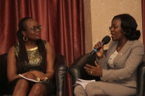 Mary Olushoga with Adenike Adeyemi, Executive Director, FATE Foundation