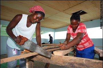 African Female Carpenter